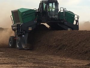 Komptech windrow turner