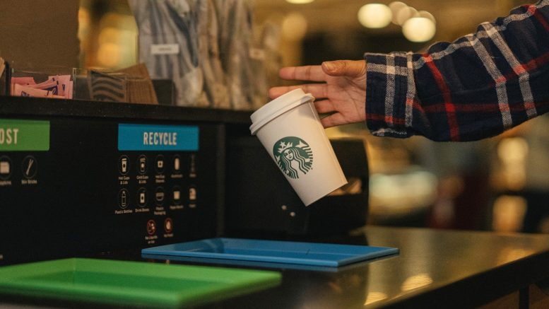 Starbucks coffee cup compostable